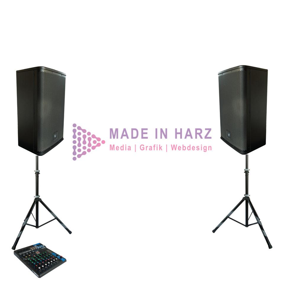 Verleih Veranstaltungstechnik Tontechnik Set EV 1 Wernigerode